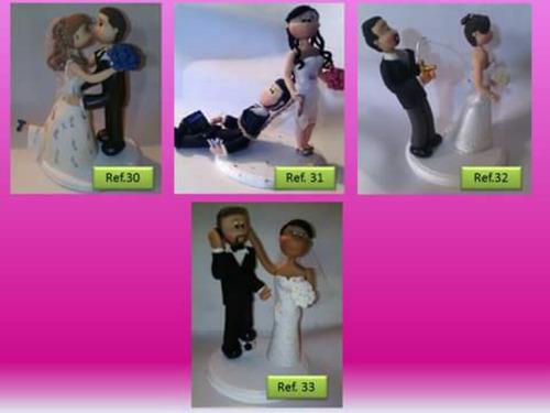 novios masa flexible centro de torta  bodas personalizados