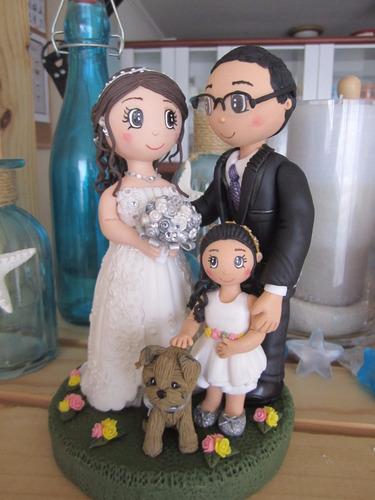 novios personalizados en porcelana fría (para tortas)