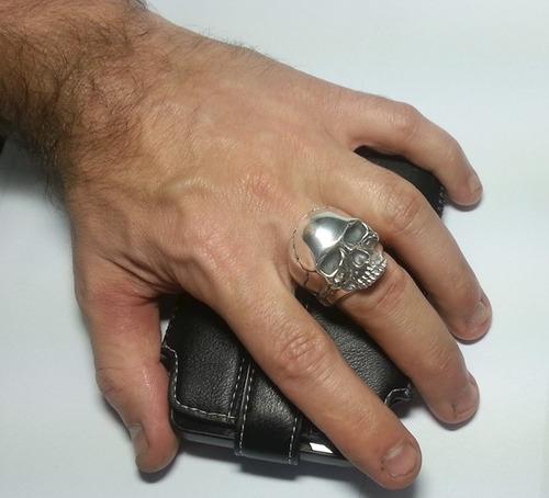 novo anel caveira keith richards maciço prata aros pequenos