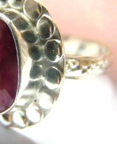 novo / aro 21 anel feminino formatura prata rubi natural direito juiz advogado oficial justiça jornalismo segurança 234