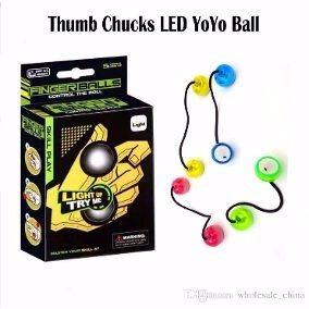 novo brinquedo thumb chucks ioio de dedos anti stress