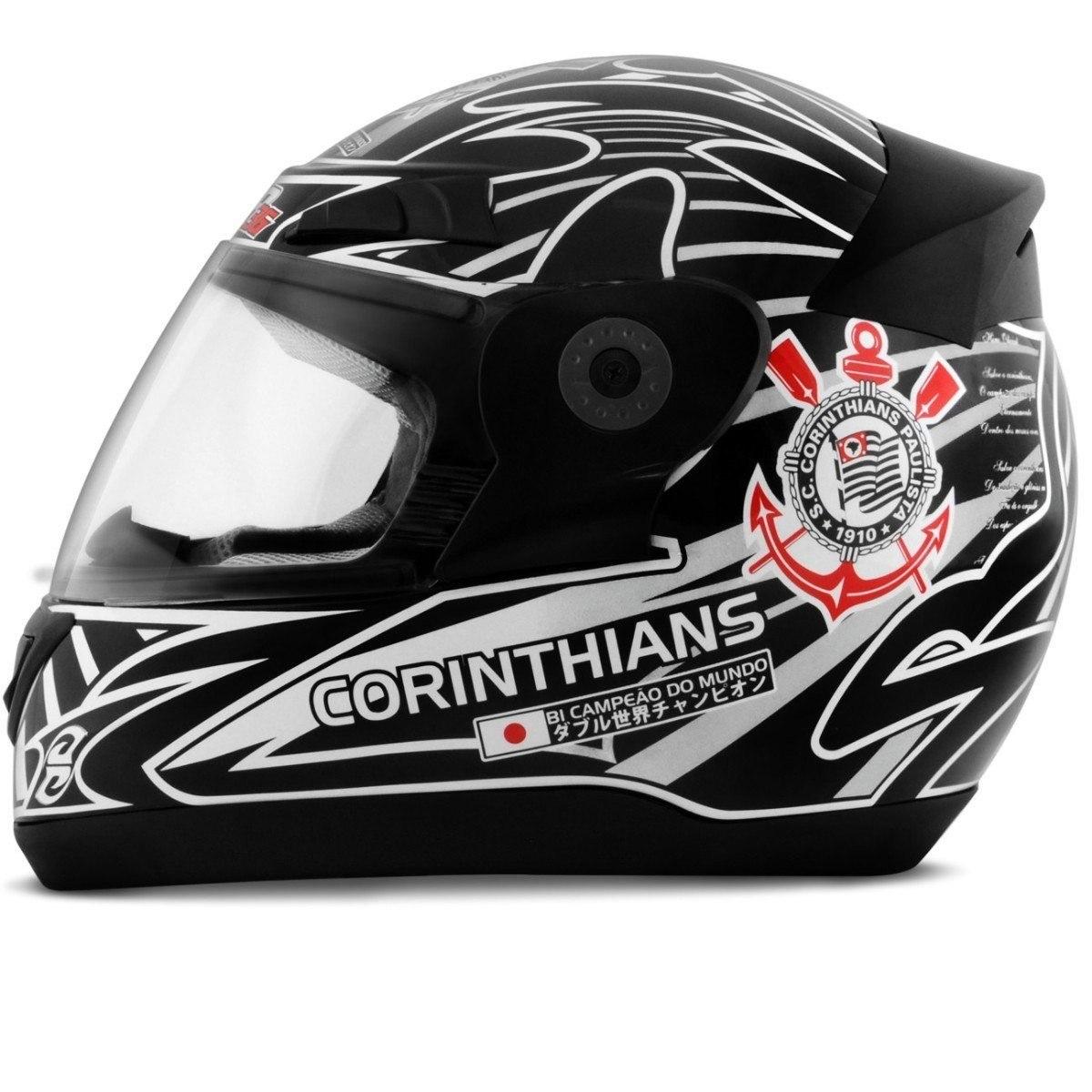 novo capacete protork evolution 3g corinthians futebol clube. Carregando  zoom. ec10a7ae6d57a