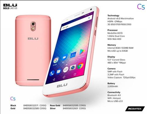 novo celular tela 5 blu original whats face 8gb + 1gb ram pe