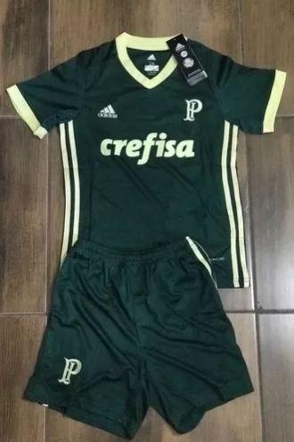Novo Conjunto Uniforme Infantil Palmeiras Oficial Lançamento - R ... b51d77ea1af35