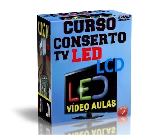 novo curso conserto tv led lcd curso na prática 7 dvds