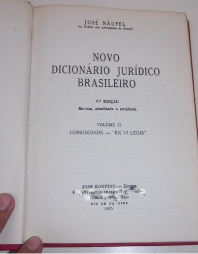 novo dicionário jurídico brasileiro josé naufel volume 2