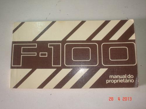 novo em branco manual pick up ford f100 1985 1986 original