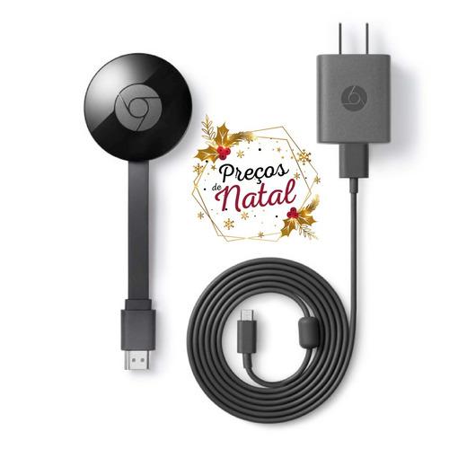 novo google 2018 chromecast 2 *preto* hdmi preço de natal