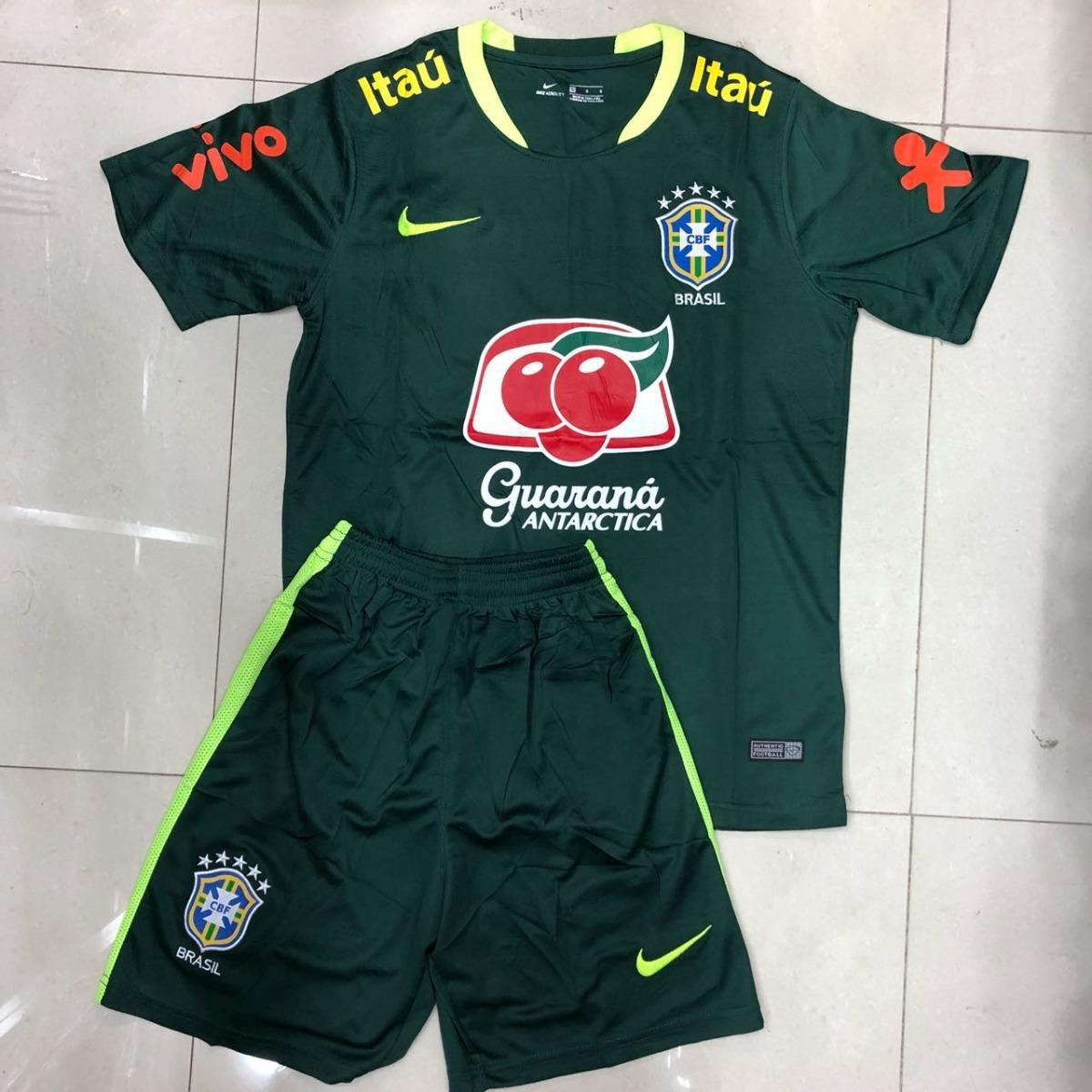 novo kit infantil seleção brasileira 2018 - oficial p entreg. Carregando  zoom. 9a8430e27b1e0