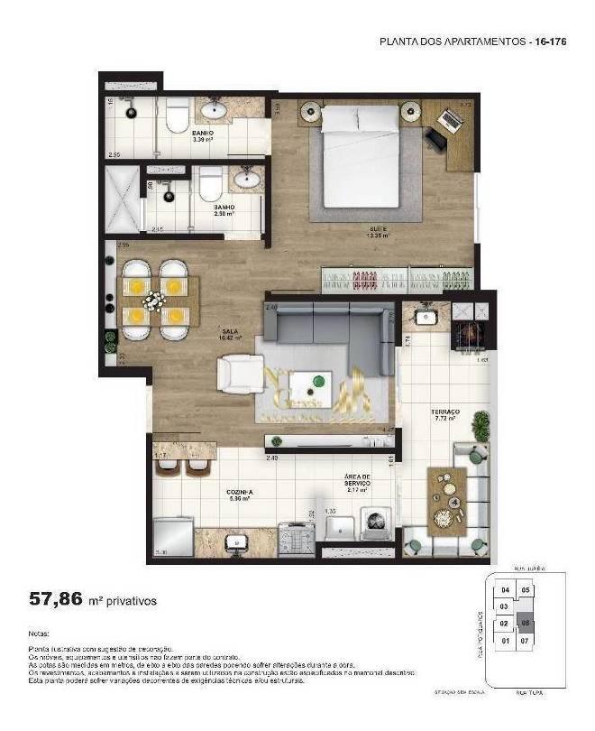 novo lançamento na vila tupi, excelente apartamento de 1 dormitórios sendo 1 suítes em praia grande - ap1266