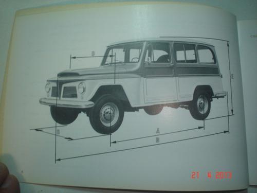 novo manual ford rural 1970 original willys overland f75 4x4