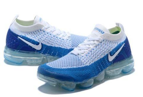 80398395194 Novo Nike Air Vapormax Flyknit 2 Branco E Azul Original 2018 - R ...