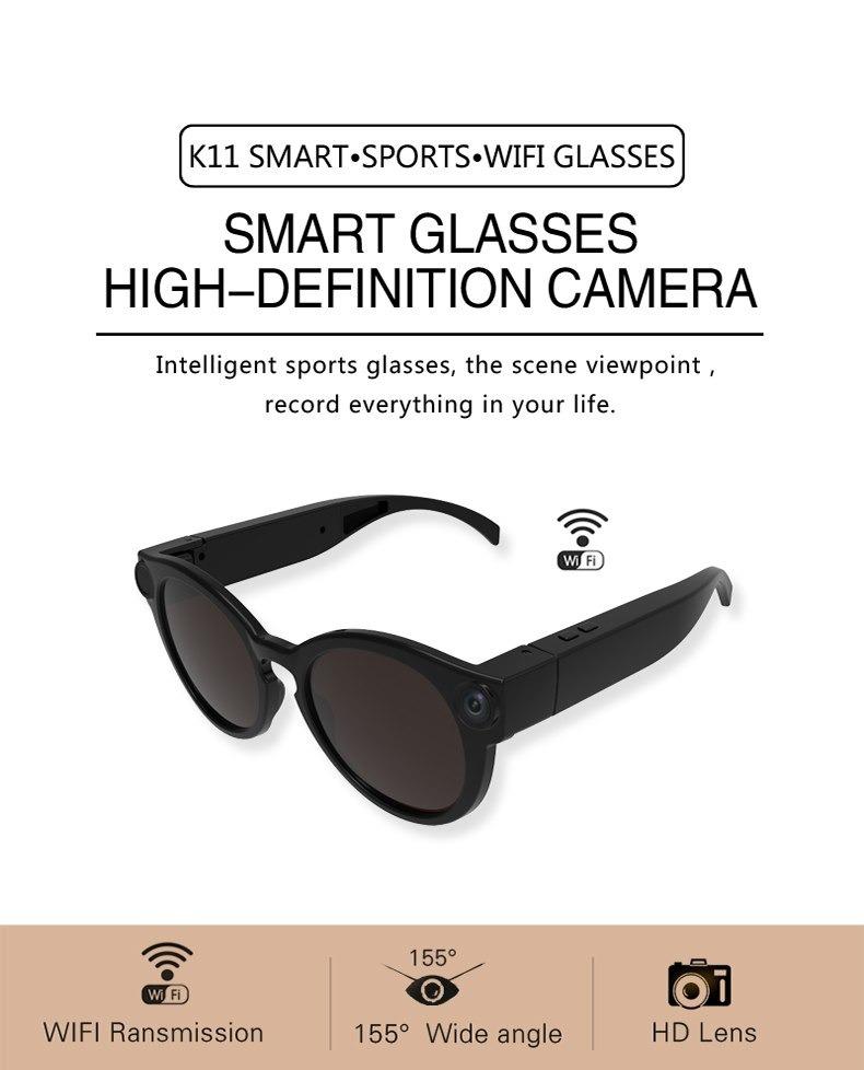 46c0bcb6d8461 novo oculos espiao wifi conecta com seu celular sem internet. Carregando  zoom.