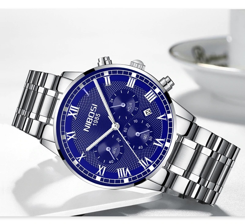 d9f57dccda1 Novo Relógio Masculino À Prova D  água Relógio De Quartzo - R  140 ...