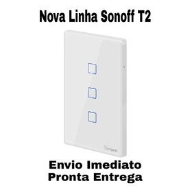 Novo Sonoff T2 3 Teclas - Envio Imediato Brasil