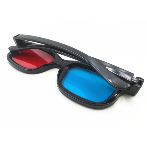 novo stereoscopic 3d vermelho e azul filme óculos