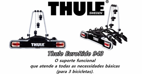 novo transbike thule 943 euroride suporte 3 bicicletas