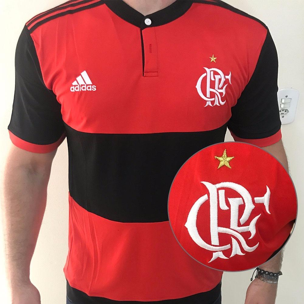 Novo Uniforme Flamengo 2017 2018 Pronta Entrega Oficial - R  134 cf9d4311612b2