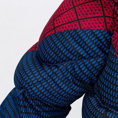 novo!!fantasia homem aranha infantil luxo músculos spiderman