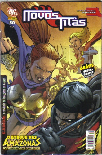novos titãs nº 50 - dc - panini comics