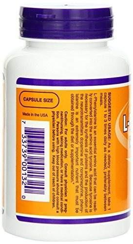 now foods l-phenylalanine 500mg, 120 cápsulas (paquete de 2)