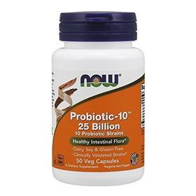 Now Probiotic-10 25 Mil Millones, Cápsulas De 50 Verduras