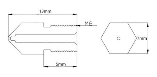 nozzle pico 0.2 mm acero hot end mk8 ender 3
