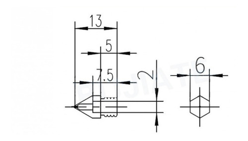 nozzle pico 0.8 mm acero hot end mk8 ender 3-magna