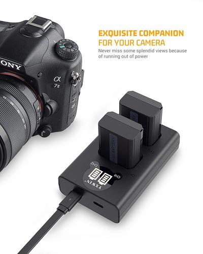 np-fw50 cámara batería set y batería para sony a6000, a...
