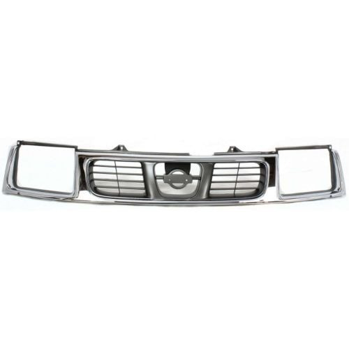 ns frontier 98-00  parrilla chrome/gray