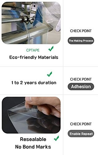 nsm premium opp clear bag 200p bolsa de plastico con cierre