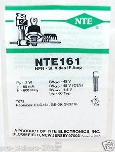 nte161 npn si si video amp t072 reemplaza ecg161 ge39 sk3716