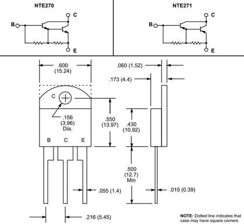 nte270 transistor darlington npn 100 v 10 amp hfe 1000