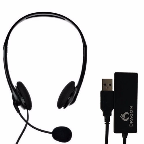 nuance dragon headset and usb adapter
