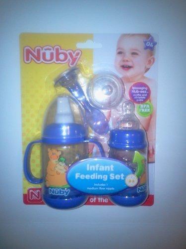 nuby 2 pack nurtur care set infa alimentador, 4 oz infantil