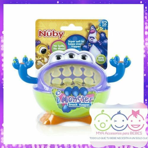 nuby 3d porta snack o guarda bocadillos, monstruo