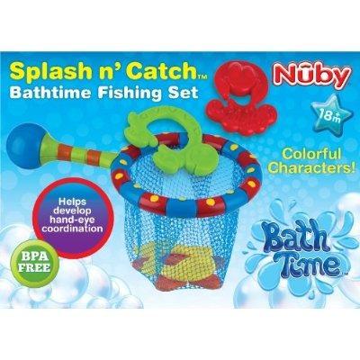 nuby splash 'n catch bath time set pesca