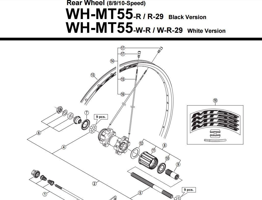 Ncleo free hub para cubo traseiro shimano wh mt55 r 16000 em carregando zoom ccuart Choice Image