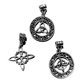 Nudo De Brujas Plata Tibetana Amuleto Celta
