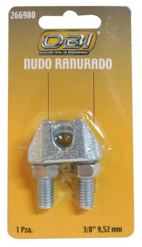 nudo ranurado para cable de acero 3/8