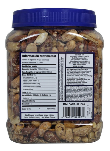 nueces surtidas kirkland signature de 1.1 kg