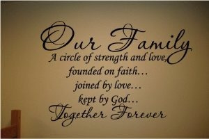 nuestra familia de un círculo de la fuerza y ¿¿amor vinilo d