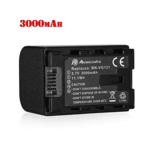 nueva 3000mah li-ion batería para jvc bn-vg121 bn-vg121u bn-