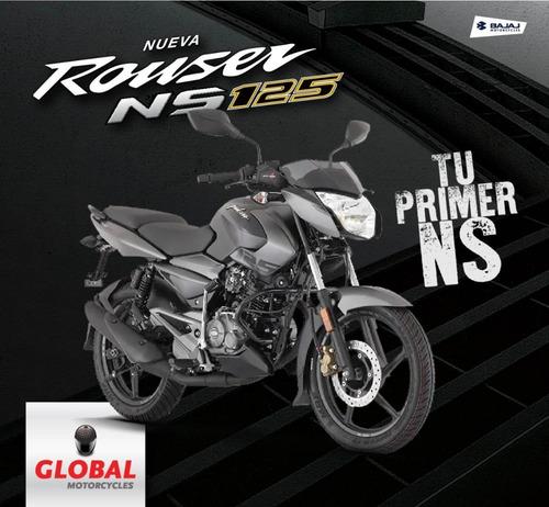 nueva bajaj rouser ns 125 con frenos cbs ! globalmotorcycles