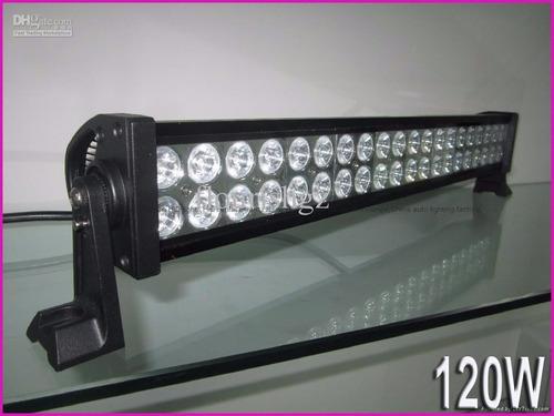 nueva barra led 120w 55cm led tipo lupa jeep 4x4 autos