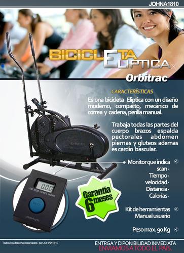 nueva bicicleta eliptica orbitrack 2en1