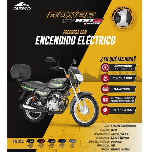 nueva boxer ct 100 2021 con maletero encendido eléctrico