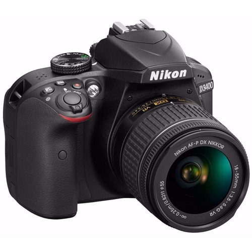 nueva camara nikon d3400 +18-55mm 24,2 mp +bolso+16gb clase
