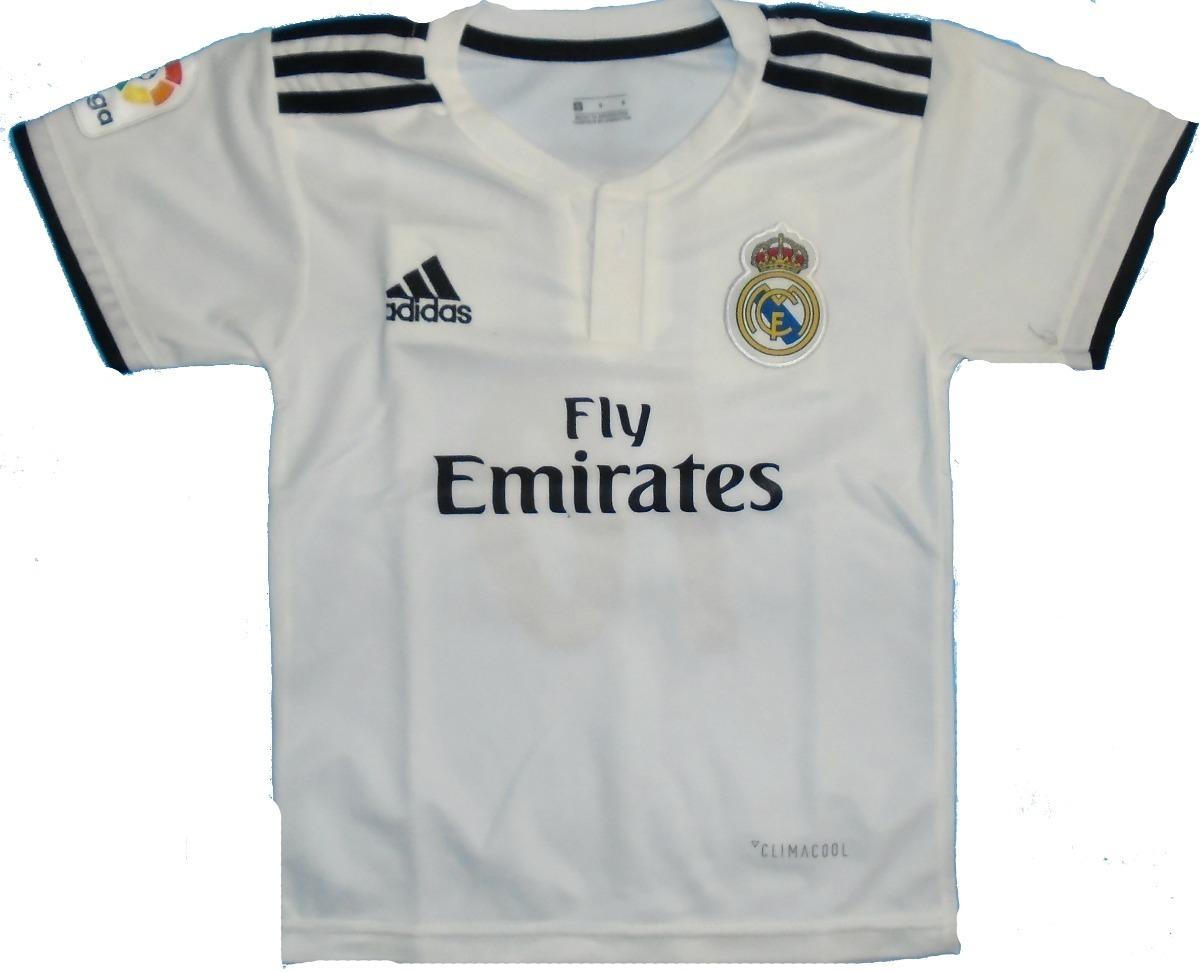 ada66f0ef1a50 nueva camiseta titular del real madrid para niño 2018  19. Cargando zoom.