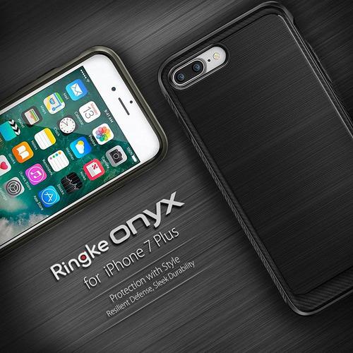 nueva carcasa original ringke onyx iphone 7 plus negro
